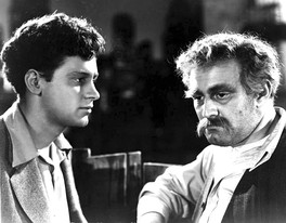 With Lee J. Cobb (right) in Holden's first starring role in a film, Golden Boy (1939)