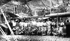 Photo of Soviet anti-air instructors and North Vietnamese crewmen, taken in the spring of 1965 at an the anti-aircraft training center in Vietnam