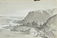Chyhryn from the Subotove road, 1845