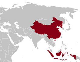 Countries that boycotted the 1964 Summer Olympics (shown in red on map)
