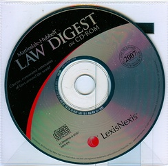 2007 Edition of Martindale-Hubbell Law Digest on CD-ROM. This was Martindale Hubbell's  One Hundred Thirty Ninth Year. The complete Martindale-Hubbell Law Digest was compiled and updated each year by law firms and legal scholars in each jurisdiction.  It included up-to-date digests of the laws of the 50 states of the USA, the District of Columbia, Puerto Rico and the US Virgin Islands, useful information on the United States Federal, Copyright and Trademark laws, the United States Uniform and Model Acts as well as American Bar Association's Codes.  The International Digest included summaries of the laws of 82 countries, a separate digest setting forth European Union Law, in deference to the laws of many European countries and selected international conventions.