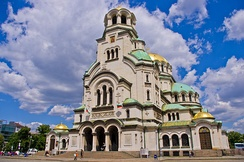 The Alexander Nevsky Cathedral in Sofia is among the largest Eastern Orthodox churches in the world and the cathedral church of the Patriarch of Bulgaria.
