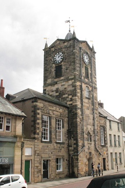 Alnwick Town Hall as seen from the west