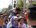 Скопление мигрантов на греко-македонской границе