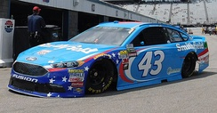 Almirola's No. 43 at New Hampshire Motor Speedway in 2017