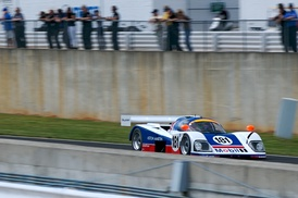 An Aston Martin AMR1 now used in Historic Sportcars Racing in North America