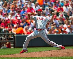 Cliff Lee, fully extended in his windup