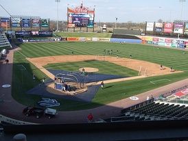 View from the club level at Coca-Cola Park in Allentown, Pennsylvania, home of the Lehigh Valley IronPigs.