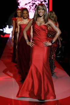 Eve at The Heart Truth's Red Dress Collection Fashion Show in 2011