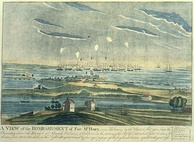 Bombardment of Fort McHenry by the British. Engraved by John Bower[49]