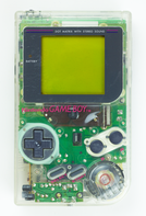 """Play It Loud!"" transparent Game Boy, North American edition"