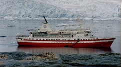 MS Explorer in Antarctica in January 1999. She sank on 23 November 2007 after hitting an iceberg.