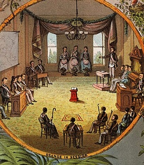 Grange in session, 1873