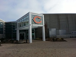 Halas Hall in Lake Forest, Illinois is the Bears' headquarters.