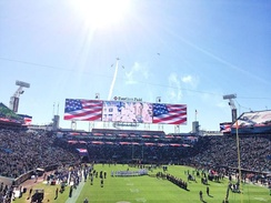 The Star-Spangled Banner performed before a Jacksonville Jaguars game at TIAA Bank Field