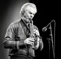 A curved soprano saxophone, played by Jan Garbarek.
