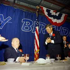 President John F. Kennedy attends DiSalle's birthday party