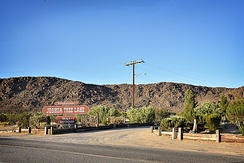 Joshua Tree Lake Campground entrance in Joshua Tree on June 27, 2017