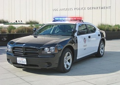 An LAPD Dodge charger