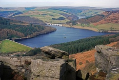 Ladybower Reservoir in the Upper Derwent Valley, set location for The Dam Busters