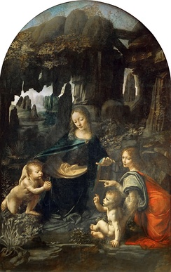 Virgin of the Rocks, (Louvre version), Leonardo da Vinci, 1483–1486