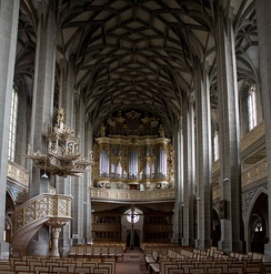 Marktkirche in Halle where Zachow and Handel performed as organists