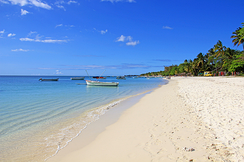 Tropical beach in Trou-aux-Biches, Mauritius