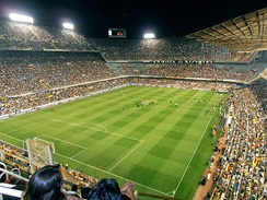 Valencia vs. Roma at the Mestalla in 2011.