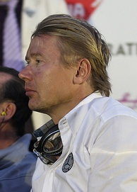 Mika Häkkinen (pictured in 2011) finished second.