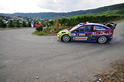 Hirvonen at the 2008 Rallye Deutschland.