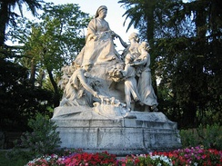 Monument to Queen Victoria in Cimiez, in the hills above Nice, where she was a regular winter visitor.