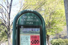 Nelson A. Rockefeller Park is an enclave within Battery Park City in New York City.