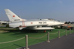 North American F-100 Super Sabre of the Turkish Air Force displayed at Istanbul Aviation Museum, Turkey