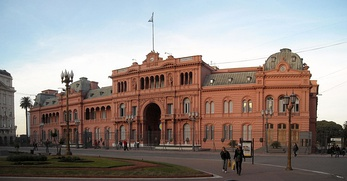 Casa Rosada, workplace of the President of Argentina is in the Monserrat neighbourhood