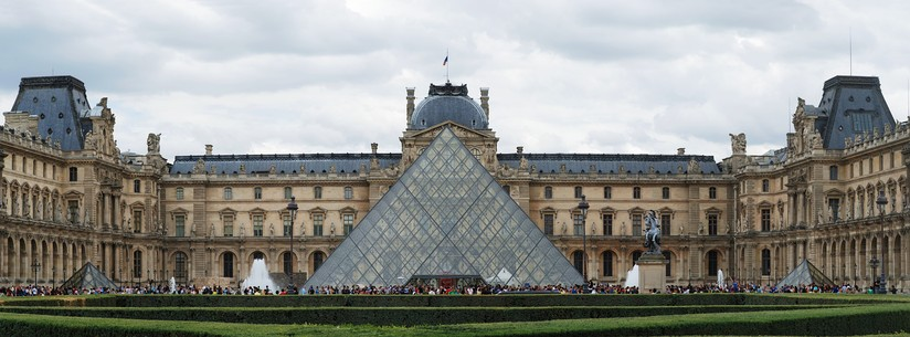 The Louvre Palace and the pyramid (by day)