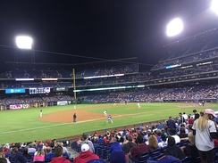 The Phillies take on the New York Mets at Citizens Bank Park on September 29. The Phillies won, 6–2.