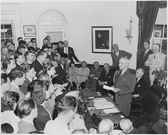 Truman announces Japan's surrender, August 14, 1945