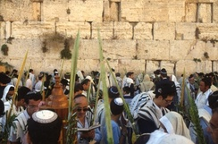 Sukkot prayers at the Western Wall or Kotel