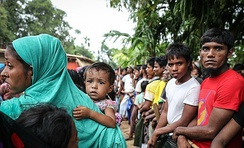 Rohingya refugees in Bangladesh in October 2017