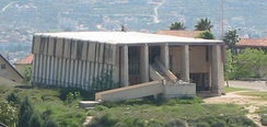 The Mishkan Shilo synagogue in Shilo is a replica of the Jewish Temple