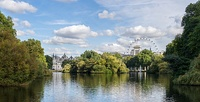 Lake with London Eye in the background