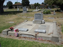 The Steinbeck family graves in the Hamilton plot at the Salinas cemetery