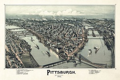Bird's Eye View of Pittsburgh, 1902