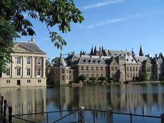 The Hague's Binnenhof. The Ministry of General Affairs, where the Council of Ministers meets every Friday, is in the centre.