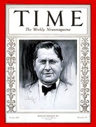William Wrigley Jr. on the cover of Time in 1929