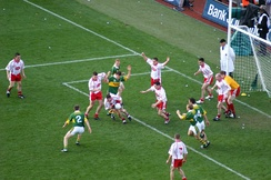 Tyrone v Kerry in the 2005 All-Ireland Senior Football Championship Final