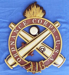 U.S. Ordnance Corps Wall Plaque