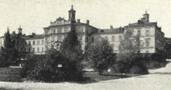 The old main building of the Uppsala University Hospital, photograph from c. 1920