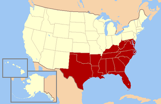 The Southern United States as defined by the Census Bureau[59]