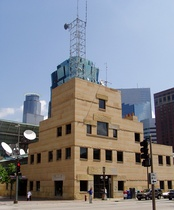 The WCCO building in downtown Minneapolis.